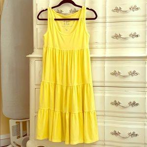 Plush & Lush Yellow Terry tiered dress!